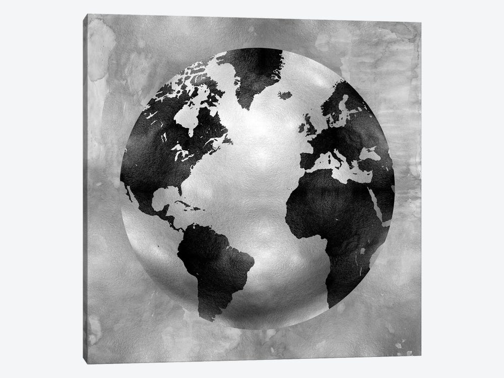 Silver Globe 1-piece Canvas Art Print
