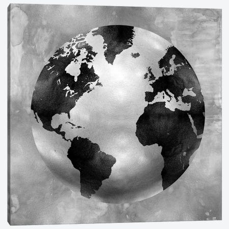 Silver Globe Canvas Print #RBR15} by Russell Brennan Canvas Wall Art