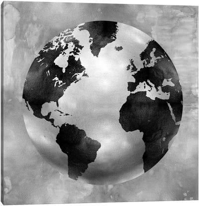 Silver Globe Canvas Print #RBR15