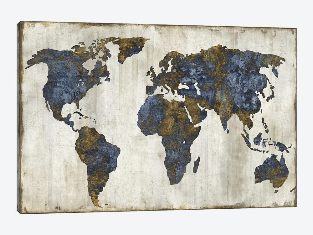 The World I by Russell Brennan 1-piece Canvas Art