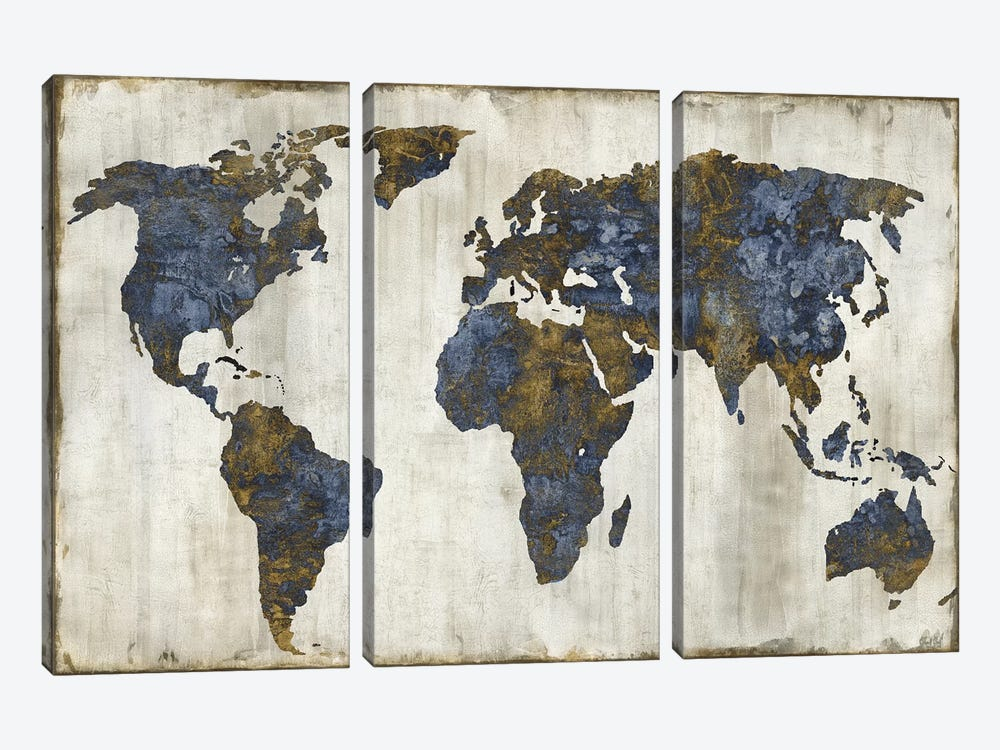 The World I by Russell Brennan 3-piece Canvas Artwork