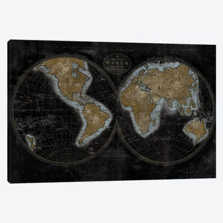 The World In Gold Canvas Print #RBR23} by Russell Brennan Canvas Wall Art