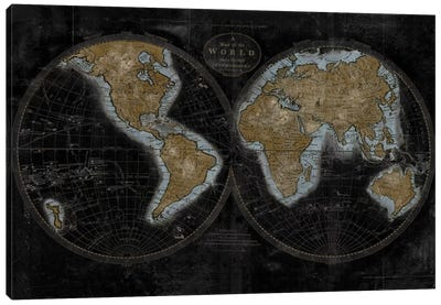 The World In Gold Canvas Art Print