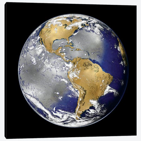 World Turning I Canvas Print #RBR29} by Russell Brennan Canvas Art
