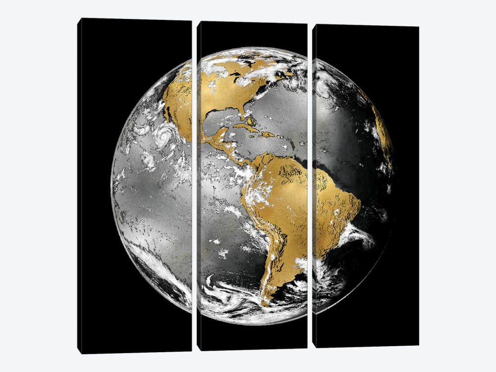World Turning III by Russell Brennan 3-piece Canvas Art Print