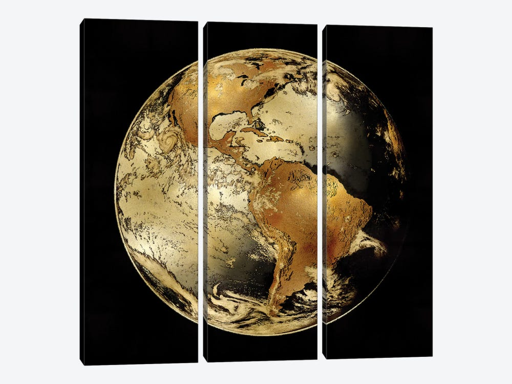 World Turning IV by Russell Brennan 3-piece Canvas Wall Art