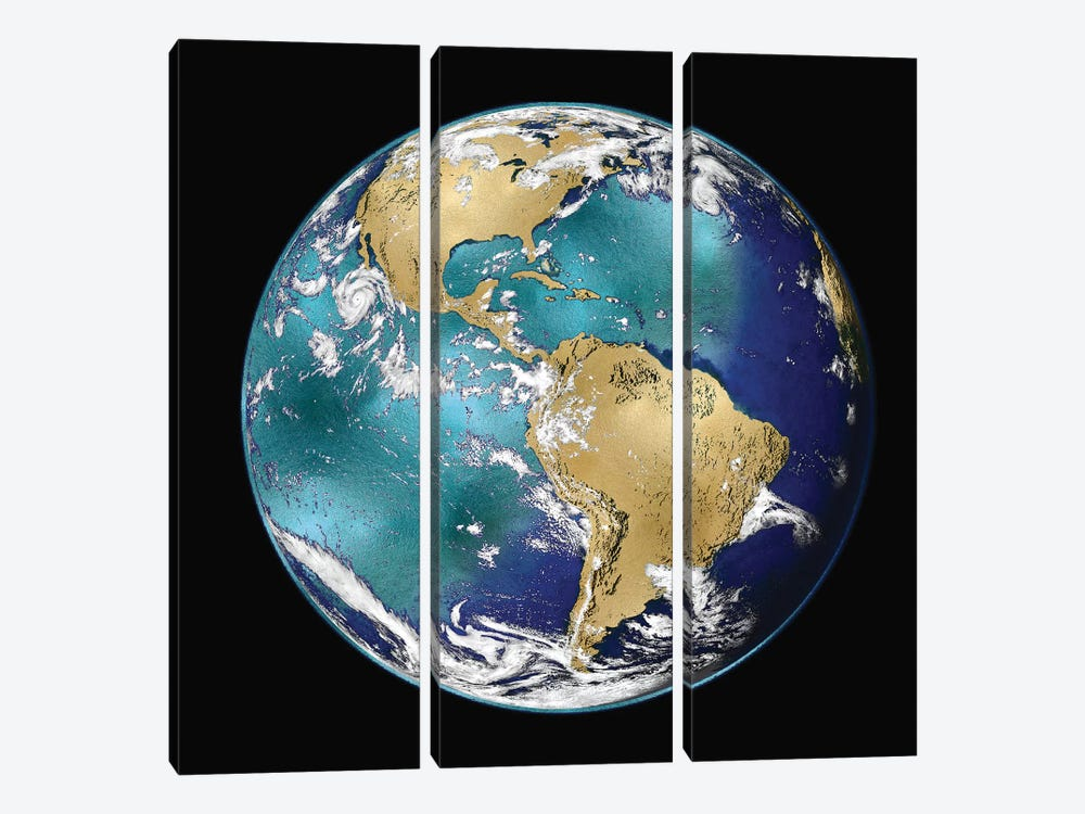 World Turning VI by Russell Brennan 3-piece Canvas Art