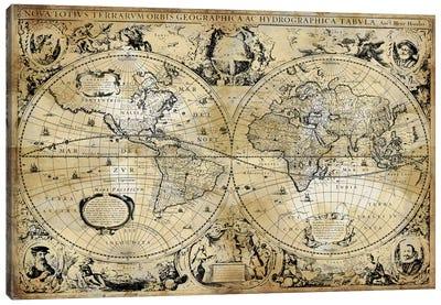 Antique World Map Canvas Art Print