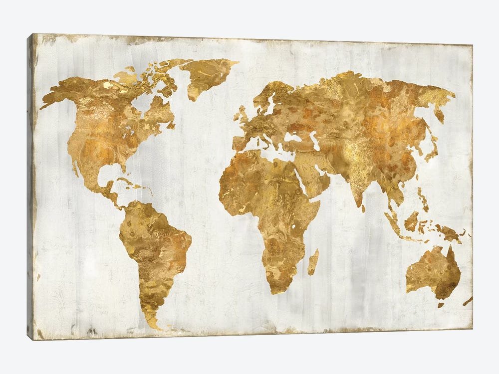 The World In Gold by Russell Brennan 1-piece Canvas Print