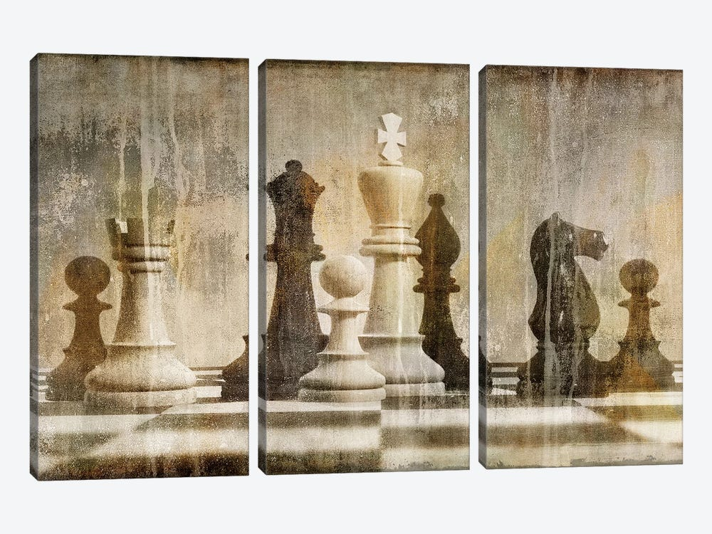 Chess by Russell Brennan 3-piece Canvas Print