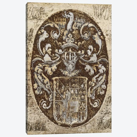 Coat Of Arms I Canvas Print #RBR6} by Russell Brennan Canvas Art Print