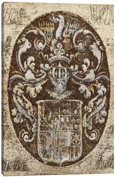Coat Of Arms I Canvas Art Print