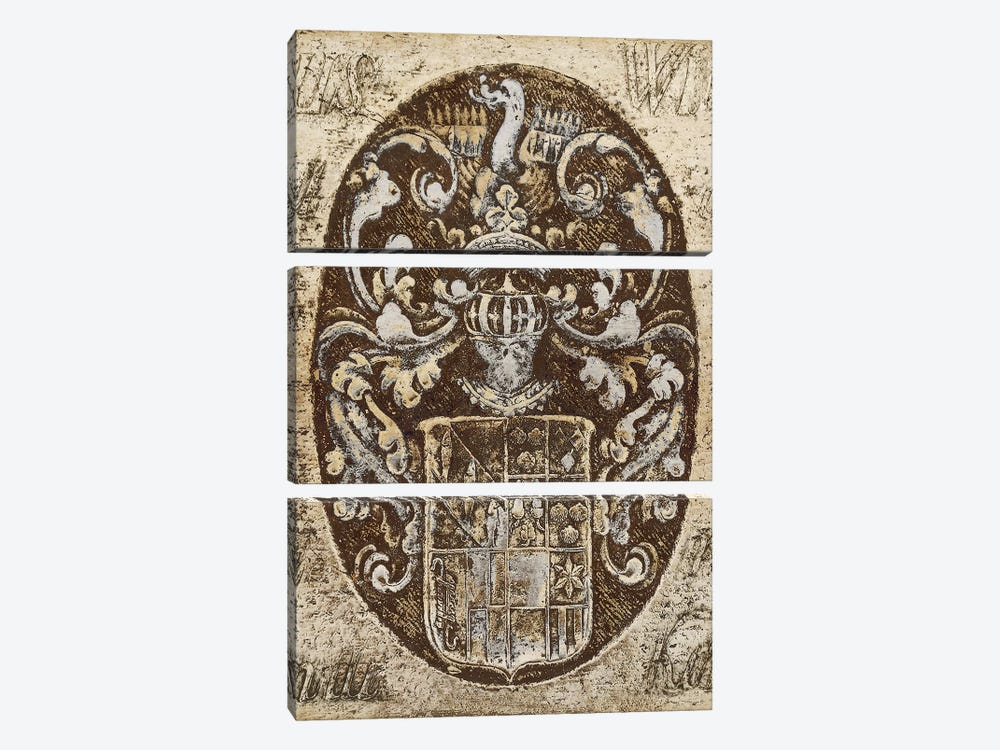 Coat Of Arms I by Russell Brennan 3-piece Canvas Wall Art