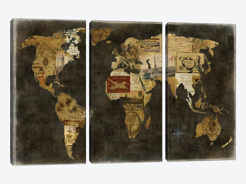 Faraway Places by Russell Brennan 3-piece Canvas Wall Art