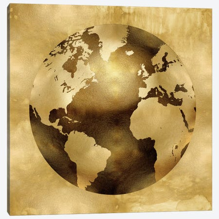 Golden Globe Canvas Print #RBR9} by Russell Brennan Canvas Artwork