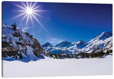 Long Lake and Sierra Peaks, John Muir Wilderness, Sierra Nevada Mountains, California, USA Canvas Art Print