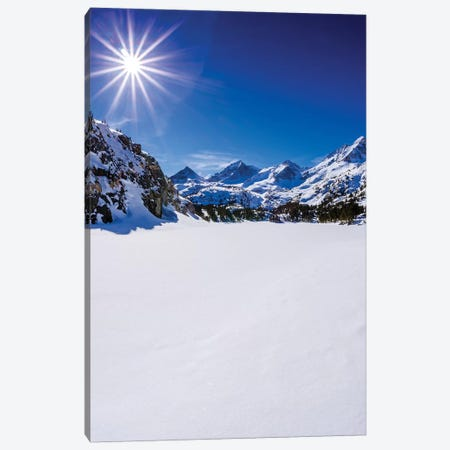 Long Lake and Sierra Peaks, John Muir Wilderness, Sierra Nevada Mountains, California, USA Canvas Print #RBS102} by Russ Bishop Canvas Art Print