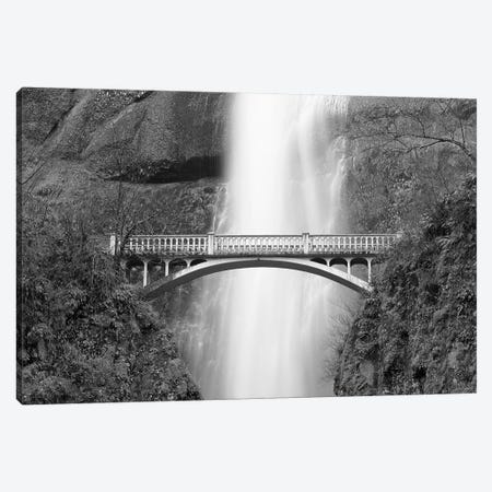 Multnomah Falls and bridge, Mount Hood National Forest, Columbia Gorge National Scenic Area, Oregon Canvas Print #RBS112} by Russ Bishop Canvas Artwork