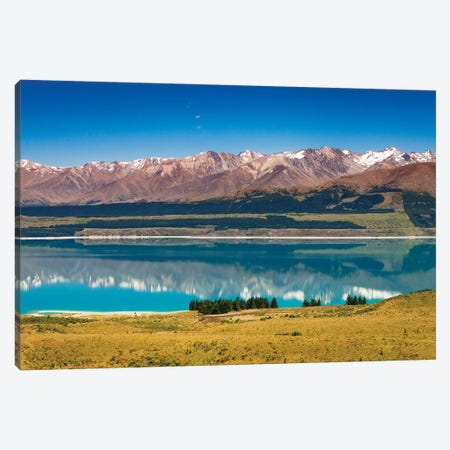 Southern Alps from Lake Pukaki, Canterbury, South Island, New Zealand Canvas Print #RBS119} by Russ Bishop Canvas Wall Art