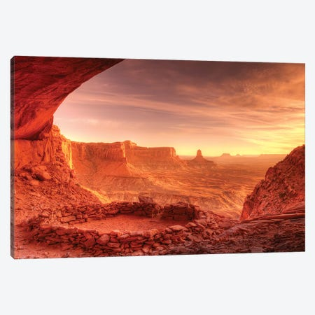 Evening light on False Kiva, Island in the Sky, Canyonlands National Park, Utah, USA Canvas Print #RBS11} by Russ Bishop Canvas Artwork