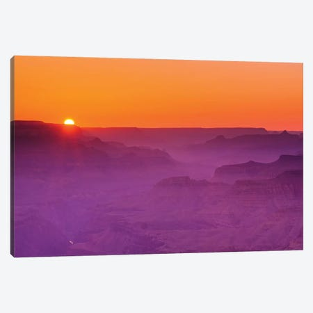 Sunset over the Grand Canyon, Grand Canyon National Park, Arizona, USA. Canvas Print #RBS120} by Russ Bishop Canvas Art Print