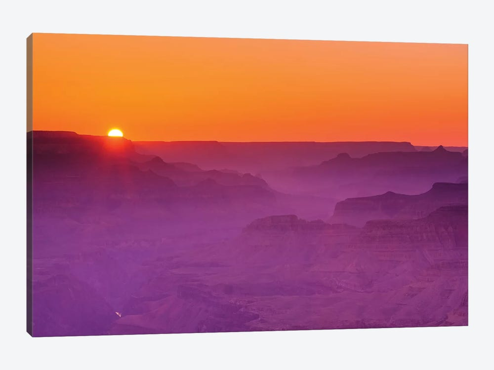 Sunset over the Grand Canyon, Grand Canyon National Park, Arizona, USA. by Russ Bishop 1-piece Canvas Art