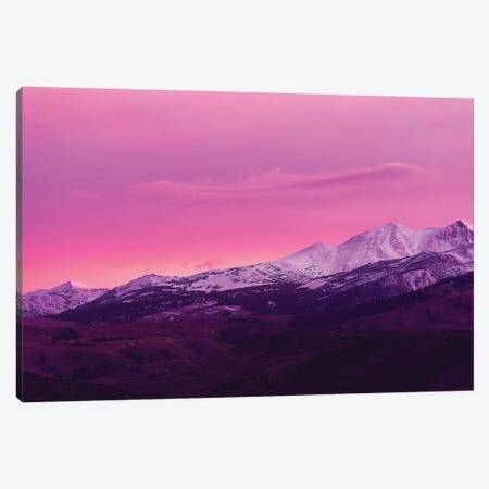 Evening light over the Sierra crest above Bridgeport, California, USA Canvas Print #RBS12} by Russ Bishop Canvas Artwork