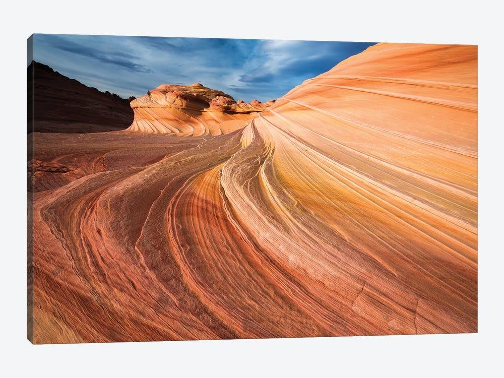 The Wave, Coyote Buttes, Paria-Vermilion Cliffs Wilderness, Arizona, USA by Russ Bishop 1-piece Canvas Wall Art