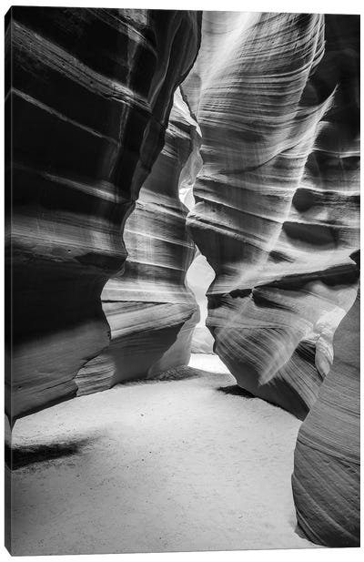 Slickrock formations in upper Antelope Canyon, Navajo Indian Reservation, Arizona, USA. Canvas Art Print