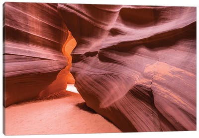 Slickrock formations in upper Antelope Canyon, Navajo Indian Reservation, Arizona, USA. Canvas Art Print