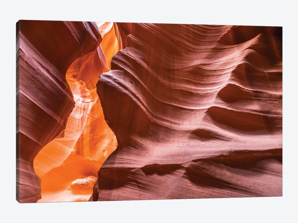 Slickrock formations in upper Antelope Canyon, Navajo Indian Reservation, Arizona, USA. by Russ Bishop 1-piece Canvas Wall Art