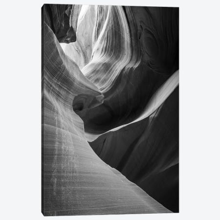Slickrock formations in lower Antelope Canyon, Navajo Indian Reservation, Arizona, USA. Canvas Print #RBS150} by Russ Bishop Canvas Art