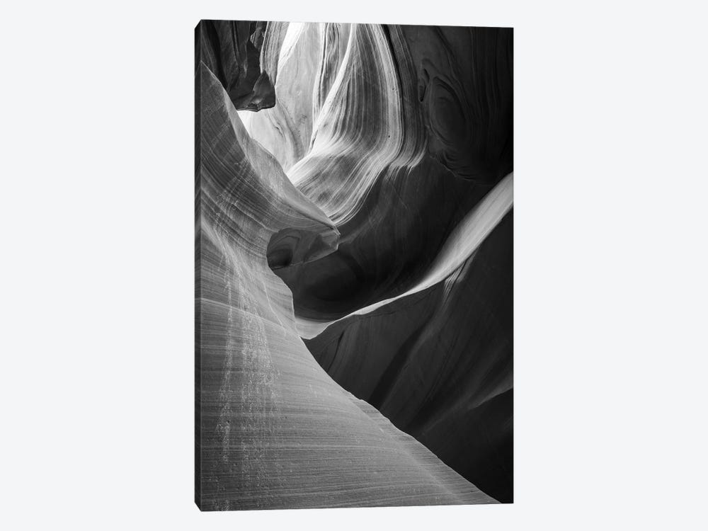 Slickrock formations in lower Antelope Canyon, Navajo Indian Reservation, Arizona, USA. by Russ Bishop 1-piece Canvas Art Print