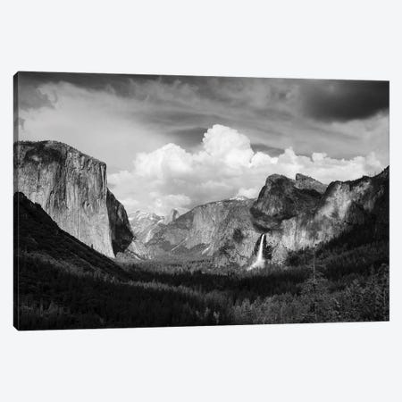 Yosemite Valley from Tunnel View, Yosemite National Park, California, USA. 3-Piece Canvas #RBS154} by Russ Bishop Canvas Art Print