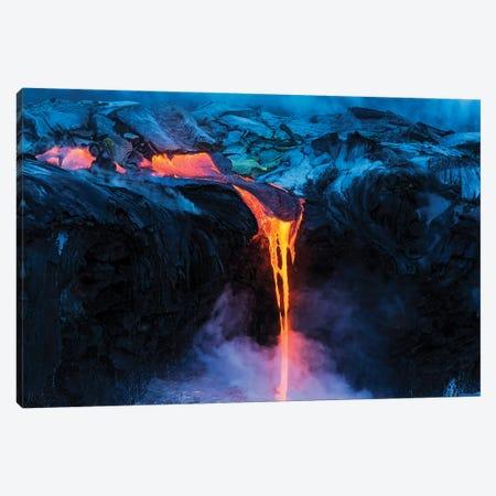 Lava flow entering the ocean at dawn, Hawaii Volcanoes National Park, The Big Island, Hawaii, USA. Canvas Print #RBS155} by Russ Bishop Art Print