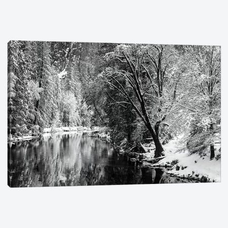 Merced River and Cathedral Rock in winter, Yosemite National Park, California, USA Canvas Print #RBS16} by Russ Bishop Canvas Print