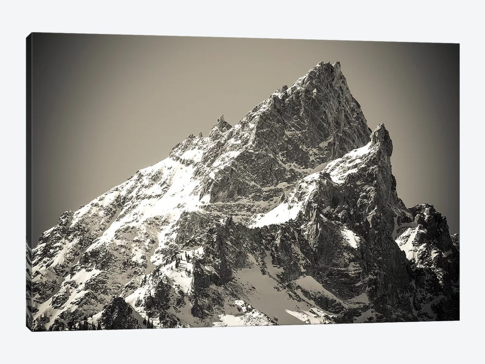 Mount Teewinot in winter, Grand Teton National Park, Wyoming, USA by Russ Bishop 1-piece Art Print