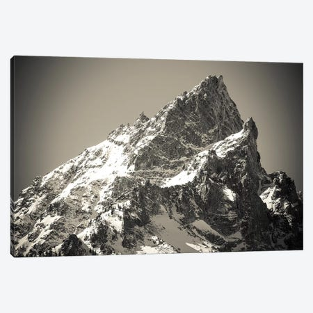 Mount Teewinot in winter, Grand Teton National Park, Wyoming, USA 3-Piece Canvas #RBS18} by Russ Bishop Canvas Artwork