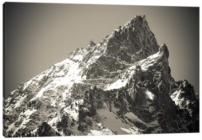 Mount Teewinot in winter, Grand Teton National Park, Wyoming, USA Canvas Art Print