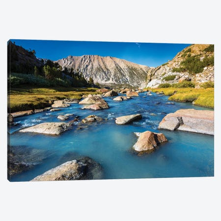 Stream in Sam Mack Meadow, John Muir Wilderness, Sierra Nevada Mountains, California, USA Canvas Print #RBS33} by Russ Bishop Canvas Art