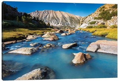 Stream in Sam Mack Meadow, John Muir Wilderness, Sierra Nevada Mountains, California, USA Canvas Art Print