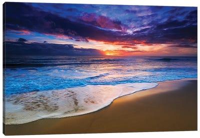 Sunset over the Channel Islands from San Buenaventura State Beach, Ventura, California, USA II Canvas Art Print