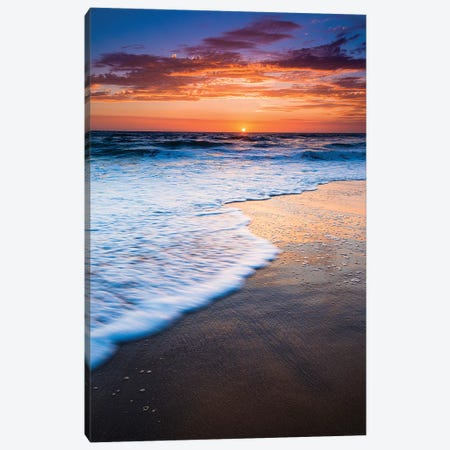 Sunset over the Pacific Ocean from Ventura State Beach, Ventura, California, USA Canvas Print #RBS41} by Russ Bishop Art Print