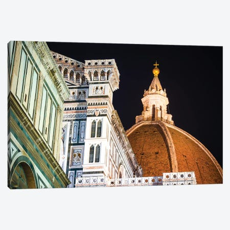 The Cathedral of Santa Maria del Fiore at night, Florence, Tuscany, Italy Canvas Print #RBS42} by Russ Bishop Canvas Print