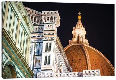 The Cathedral of Santa Maria del Fiore at night, Florence, Tuscany, Italy Canvas Art Print