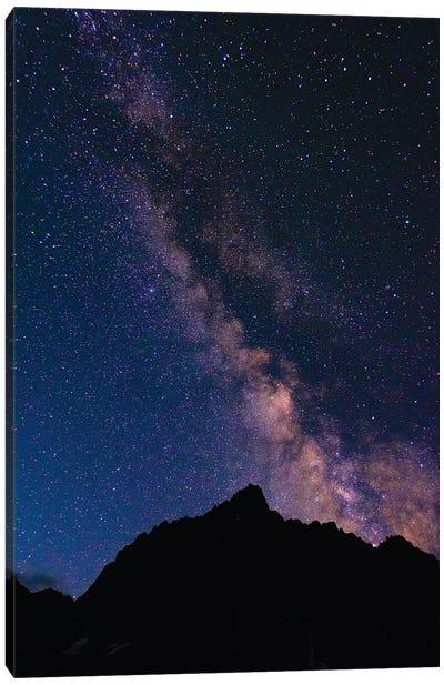 The Milky Way over the Palisades, John Muir Wilderness, Sierra Nevada Mountains, California, USA Canvas Art Print