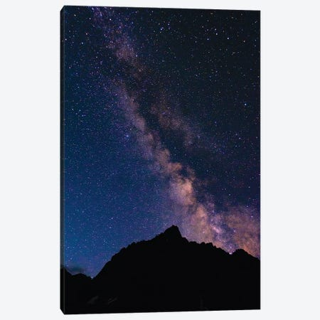 The Milky Way over the Palisades, John Muir Wilderness, Sierra Nevada Mountains, California, USA Canvas Print #RBS45} by Russ Bishop Canvas Art