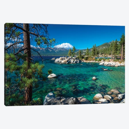 Boulders and cove at Sand Harbor State Park, Lake Tahoe, Nevada, USA Canvas Print #RBS4} by Russ Bishop Canvas Wall Art