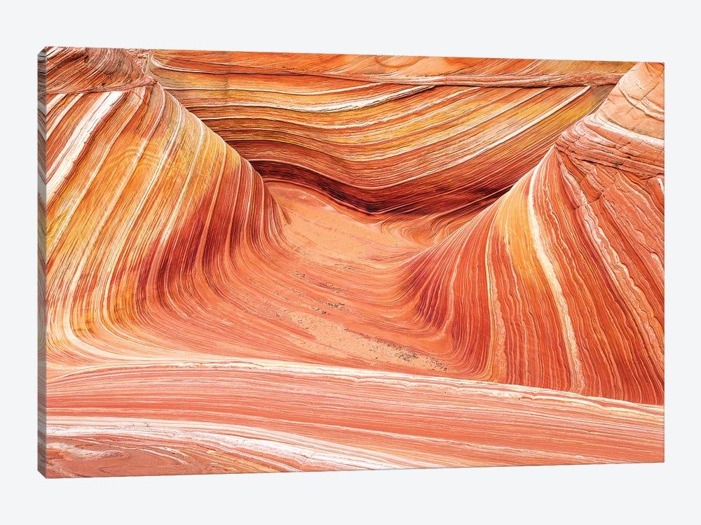 The Wave, Coyote Buttes, Paria-Vermilion Cliffs Wilderness, Arizona USA by Russ Bishop 1-piece Canvas Art Print