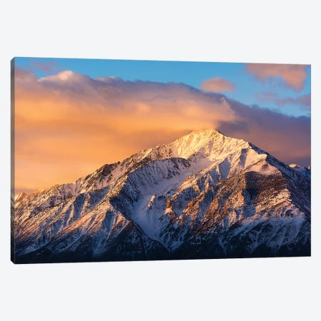 Winter sunrise on Mount Tom, Inyo National Forest, Sierra Nevada Mountains, California, USA Canvas Print #RBS54} by Russ Bishop Art Print